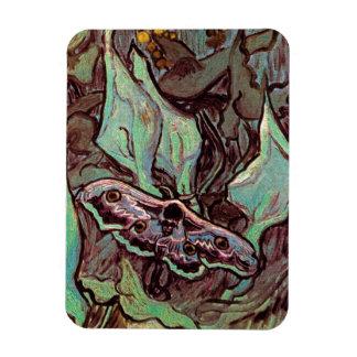 Van Gogh - Great Peacock Moth Vinyl Magnets