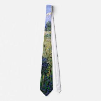 Van Gogh Green Wheat Field with Cypress, Fine Art Tie