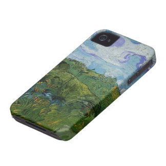 Van Gogh Green Wheat Fields, Vintage Fine Art iPhone 4 Cover