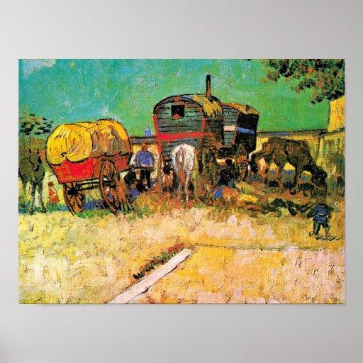 Van Gogh - Gypsy Camp with Horse Dray