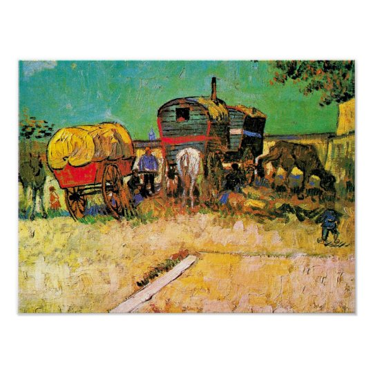 Van Gogh - Gypsy Camp with Horse Dray