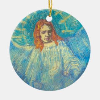 Van Gogh; Half Figure of an Angel, Vintage Art Christmas Ornament