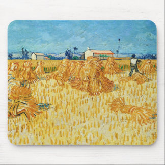 Van Gogh; Harvest in Provence Mouse Pad