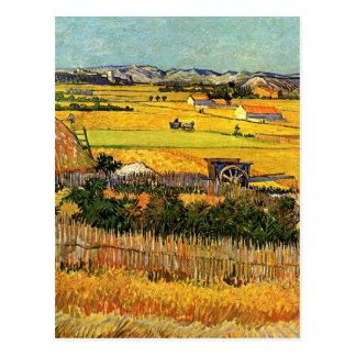 Van Gogh Harvest La Crau, Montmajour, Fine Art Postcard
