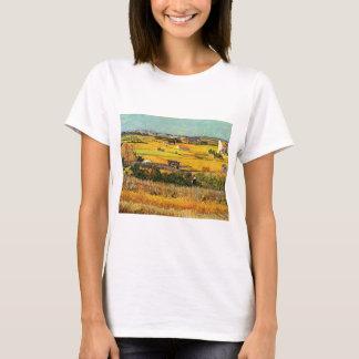 Van Gogh Harvest La Crau, Montmajour, Fine Art T-Shirt