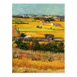 Van Gogh Harvest La Crau, Montmajour in Background