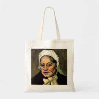 Van Gogh, Head of Old Woman, White Cap (Midwife) Budget Tote Bag