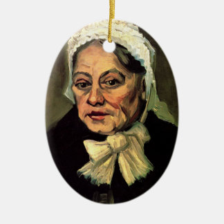 Van Gogh, Head of Old Woman, White Cap (Midwife) Christmas Ornament