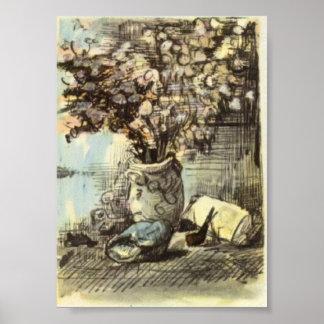 Van Gogh - Honesty in a Vase Poster