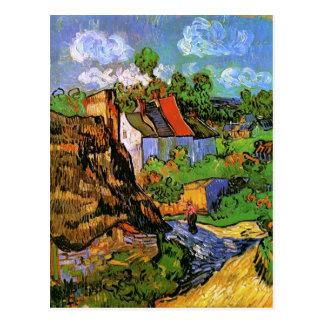 Van Gogh Houses in Auvers (F805) Fine Art Postcard