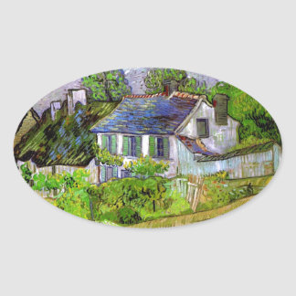 Van Gogh - Houses in Auvers Oval Sticker