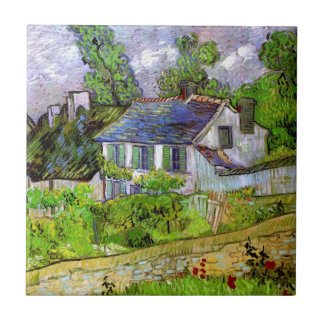 Van Gogh - Houses in Auvers Small Square Tile