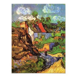 Van Gogh Houses in Auvers Vintage Country Cottages Invitations