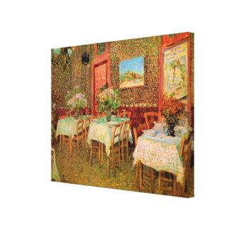 Van Gogh Interior of Restaurant, Vintage Fine Art Stretched Canvas Prints