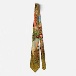 Van Gogh Interior of Restaurant, Vintage Fine Art Tie
