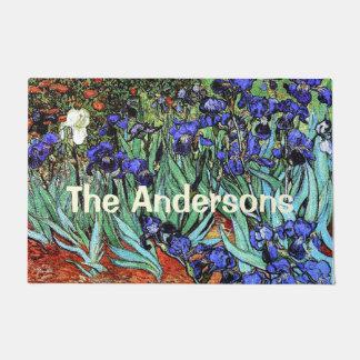 Van Gogh Irises Flowers Floral Personalize Doormat