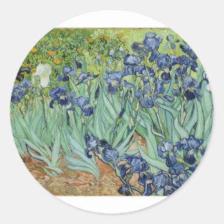 Van Gogh Irises Round Sticker