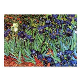 Van Gogh Irises, Vintage Garden Fine Art 13 Cm X 18 Cm Invitation Card