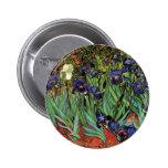 Van Gogh Irises, Vintage Garden Fine Art 6 Cm Round Badge