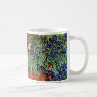Van Gogh Irises, Vintage Garden Fine Art Basic White Mug