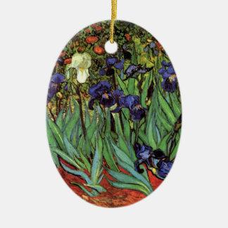 Van Gogh Irises, Vintage Garden Fine Art Christmas Ornament