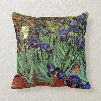 Van Gogh Irises, Vintage Garden Fine Art Cushion