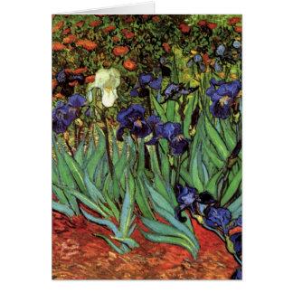 Van Gogh Irises, Vintage Garden Fine Art Greeting Card