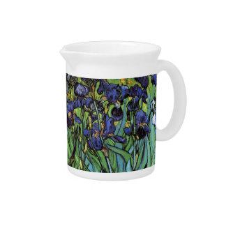 Van Gogh Irises, Vintage Garden Fine Art Pitcher