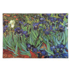 Van Gogh Irises, Vintage Garden Fine Art Placemat