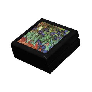 Van Gogh Irises, Vintage Garden Fine Art Small Square Gift Box