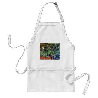 Van Gogh Irises, Vintage Garden Fine Art Standard Apron