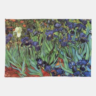 Van Gogh Irises, Vintage Garden Fine Art Tea Towel