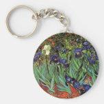 Van Gogh Irises, Vintage Post Impressionism Art Key Chains