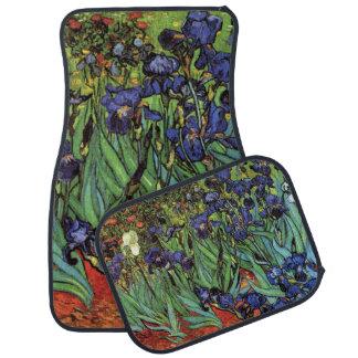 Van Gogh Irises Vintage Post Impressionism Art Car Mat