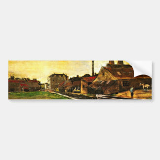 Van Gogh; Iron Mill in The Hague, Vintage Business Bumper Stickers