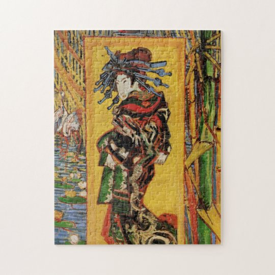 Van Gogh Japanese Courtesan Oiran Vintage Portrait Jigsaw