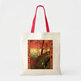 Van Gogh Japanese Flowering Plum Tree, Fine Art Grocery Tote Bag