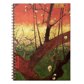 Van Gogh Japanese Flowering Plum Tree, Fine Art Notebooks