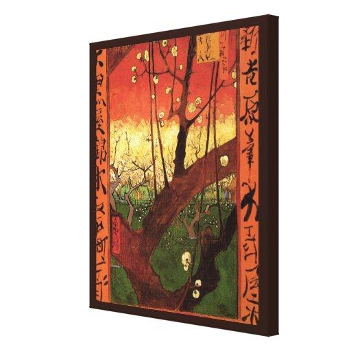 Van Gogh Japanese Flowering Plum Tree, Vintage Art Stretched Canvas Print