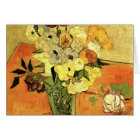 Van Gogh Japanese Vase with Roses and Anemones Card