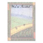 "Van Gogh - Japonaiserie Bridge In The Rain 5"" X 7"" Invitation Card"