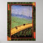 Van Gogh - Japonaiserie Bridge In The Rain Poster