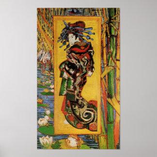 Van Gogh Japonaiserie, Oiran (Courtesan) Vintage Poster
