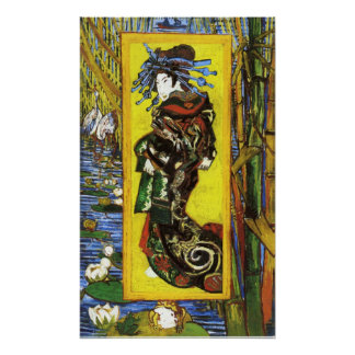 Van Gogh Japonaiserie Oiran Poster
