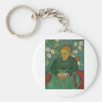 VAN GOGH - LA BERCEUSE (AUGUSTINE ROULIN) BASIC ROUND BUTTON KEY RING