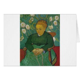 VAN GOGH - LA BERCEUSE (AUGUSTINE ROULIN) GREETING CARD