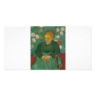 VAN GOGH - LA BERCEUSE (AUGUSTINE ROULIN) PHOTO GREETING CARD