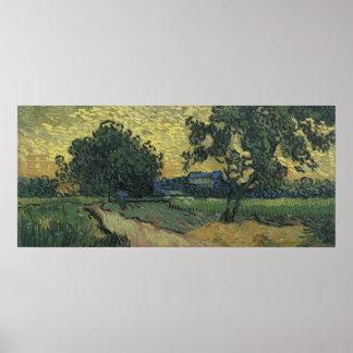 Van Gogh Landscape at Twilight 1890 Poster