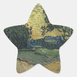Van Gogh Landscape at Twilight 1890 Sticker