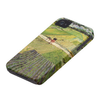 Van Gogh Landscape Carriage and Train, Fine Art iPhone 4 Covers